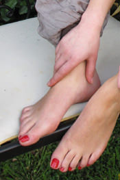 Red Polish Feet
